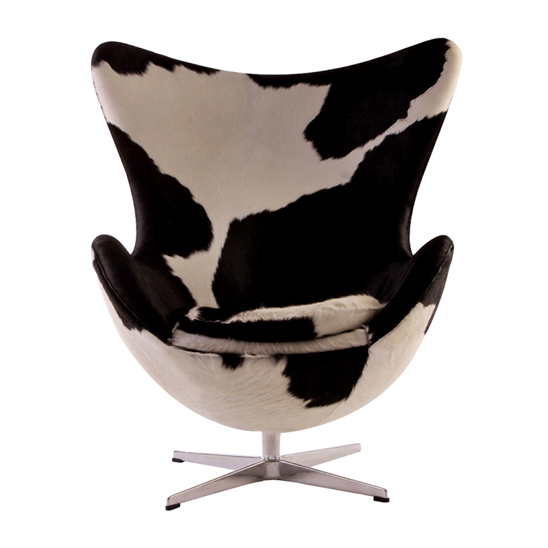 Cow Print Egg Chair by Arne Jacobsen Cowhide
