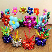 2016 kids/adult toys helium foil balloon, halloween /Christmas party balloon, colorful flowers balloon for kids