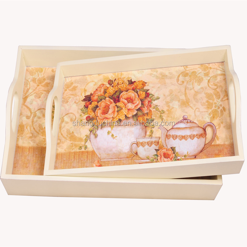 2015 natural handmade fashion rectangular decorative wooden fruit storage trays for small fruit