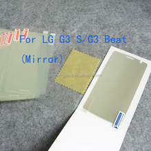 High quality Mirror Screen protector film for LG G3 S D722 , Paypal also accepted