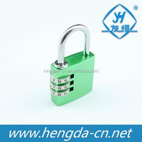 Aluminium alloy combination padlock 3 digital colorful padlock