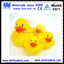 Mesh bag packed floating duck family