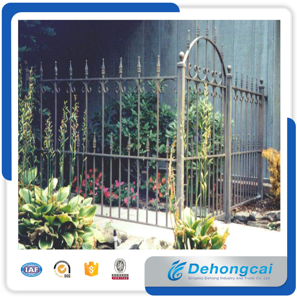 New garden security wrought iron fence designs/decorative garden fencing china