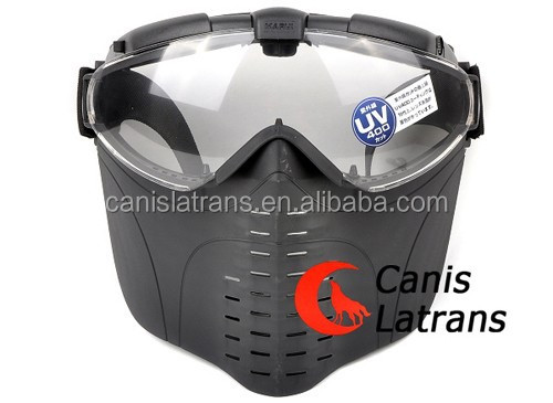 Tactical Military Airsoft Full Face Mask/Goggles For Painball Black CL9-0009