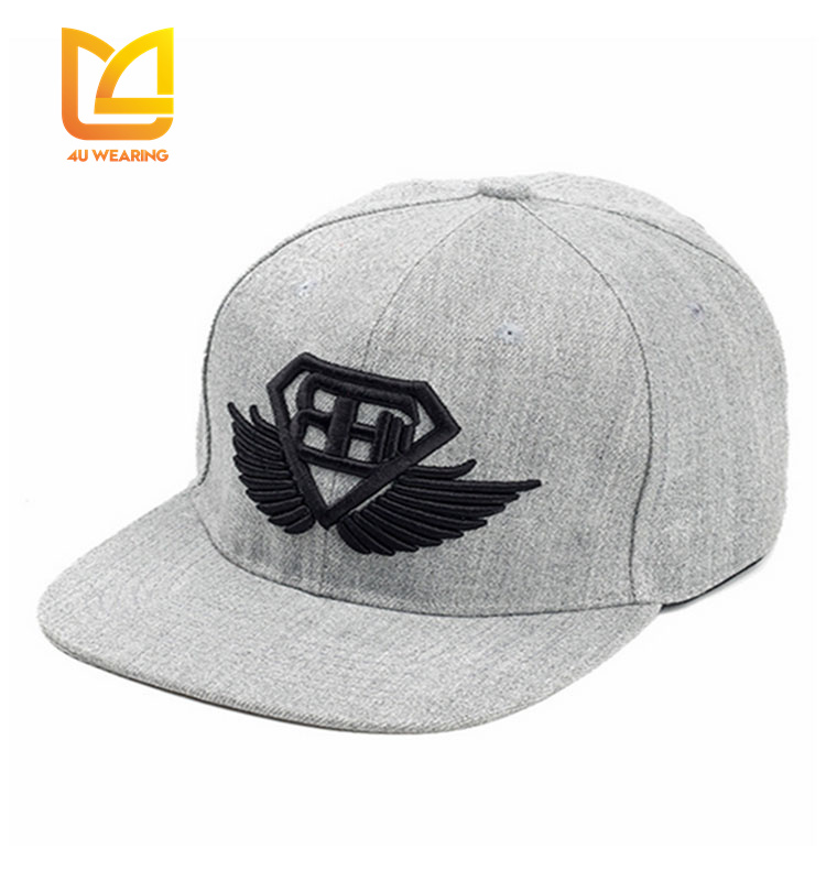 Free custom leather patch logo snapback hats wholesale