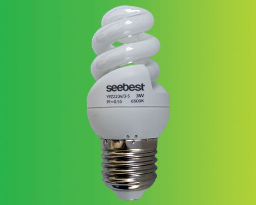 High Efficiency Full spiral energy saving lamp (CFL) 3W