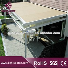 Aluminum balcony cover tarps pergola roof and skylight awning