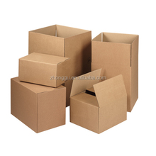 Customized plain white kraft corrugated cardboard wax carton shipping packing boxes with custom Debossed logo for packaging