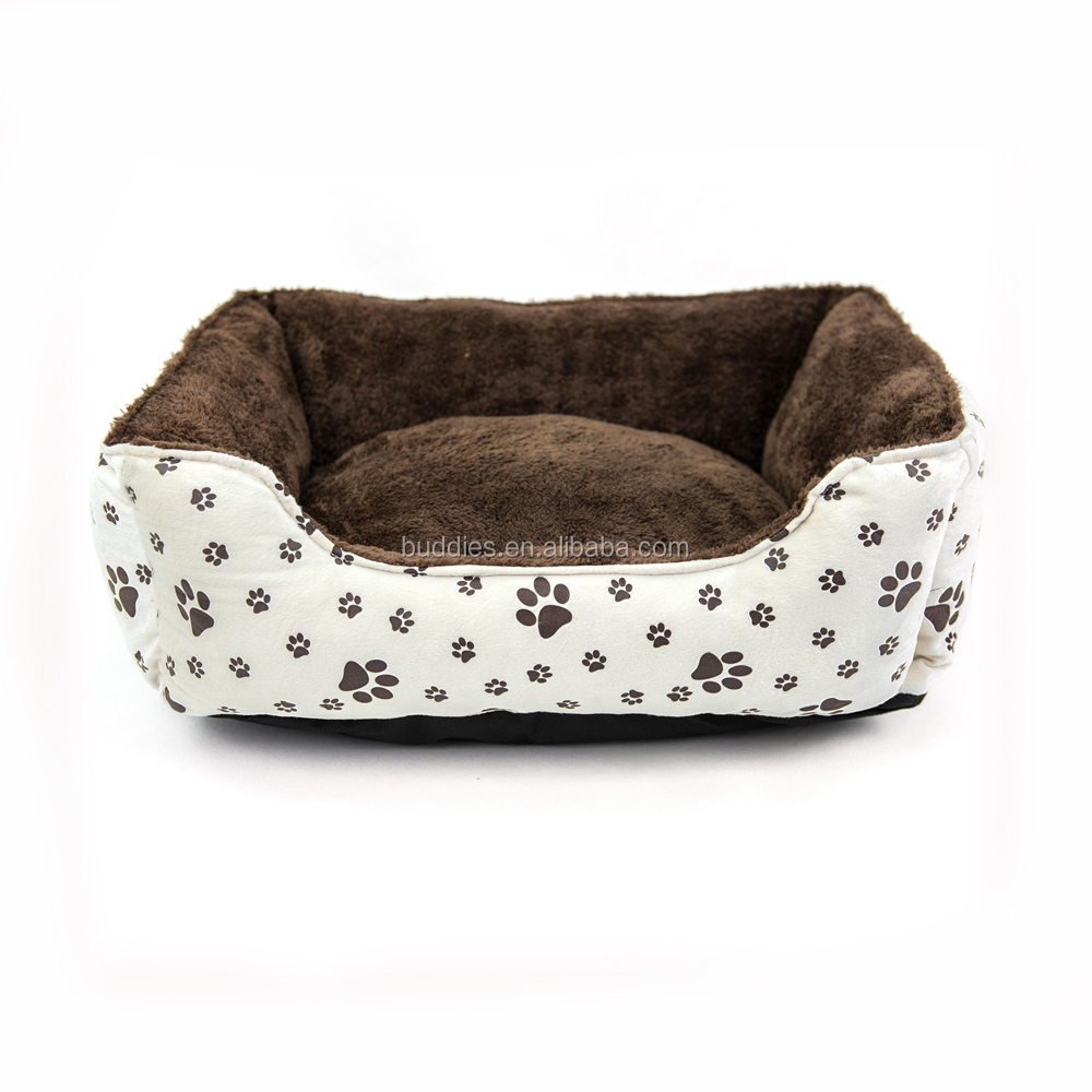 Wholesale Paw Print Luxury cat Bed