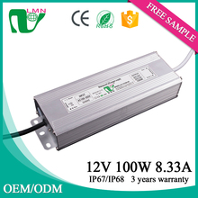 100w 8.33a waterproof led driver DC output led power supply