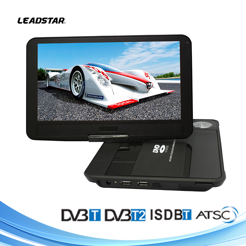 10 inch portable evd dvd player price with analog tv, dvbt dvbt2 tv