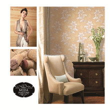 Glamorous Paper back vinilo wallcoverings papel pintado con pan de oro