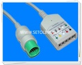 Round 17Pin 5leads ECG Trunk Cable for Spacelabs 90492,90369 Ultraview
