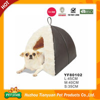 Discount!!! 2016 New Arrival PU Leather Fabric Warm Plush Fur High Quality New Soft Foam Pet House