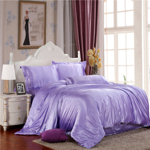 Home textiles Silky bedding set with Sheets duvet covers pillows