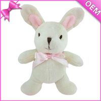 So cute toys super soft material plush white rabbit stuffed PP cotton for sale