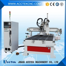 atc cnc router with discharge and unload plate table for cabinet