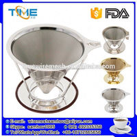 Shopping websites stainless coffee dripper osaka coffee filter micron with FDA certificat