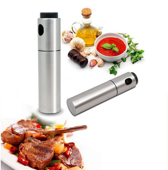 Stainless steel barbecue cooking oil spray bottle,Olive oil mist spray bottle,Stainless steel oil and vinegar pump spray