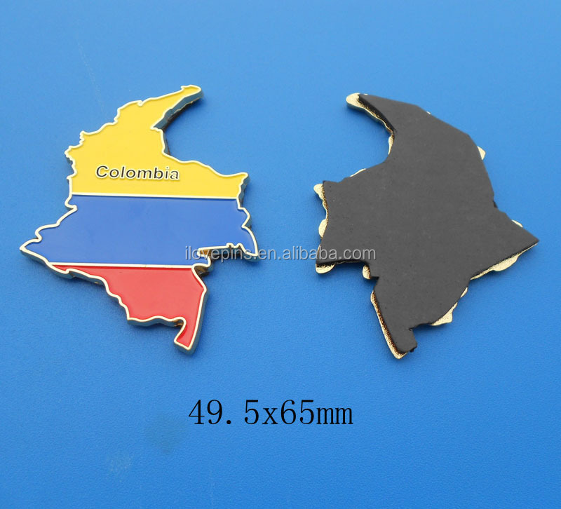 OEM Colombia Map Metal Fridge Magnets/Fridge Magnet Sticker