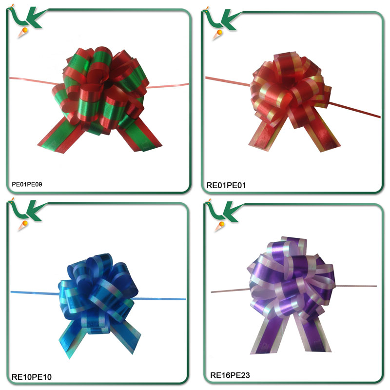 Hot Sell Pre-tied Satin Ribbon Bow With Elastic Loop