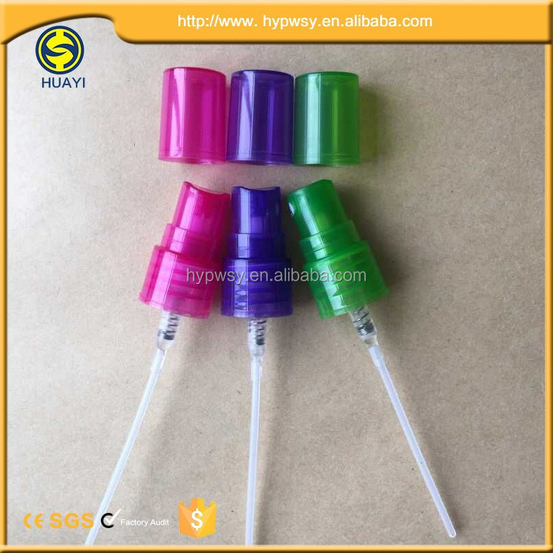 colourful 18mm plastic mist water sprayer