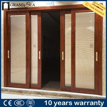China manufacturer heat and sound insulation waterproof frameless exterior glass sliding doors with fly net
