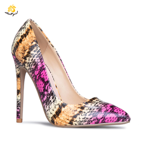 Infinite Stroll Girl G190310 2019 Women hottest quality colorful flower high heels stiletto with platform custom print shoes