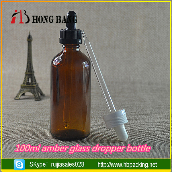 Round shape brown 100ml 20ml 15ml 30ml fancy olive oil glass dropper bottle with childproof cap