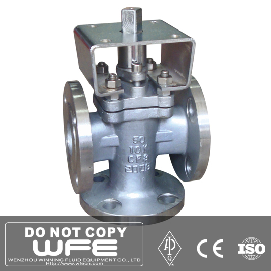 Flange Connection Lubricated Pressure Balance Plug Valve