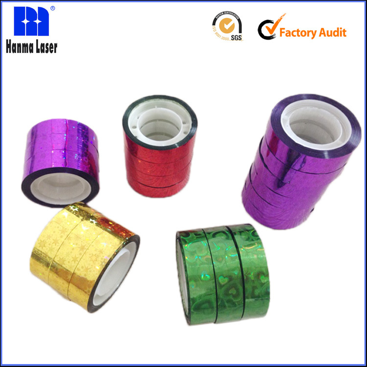 Hot sale BOPP Holographic Decorative Laser Adhesive Tape