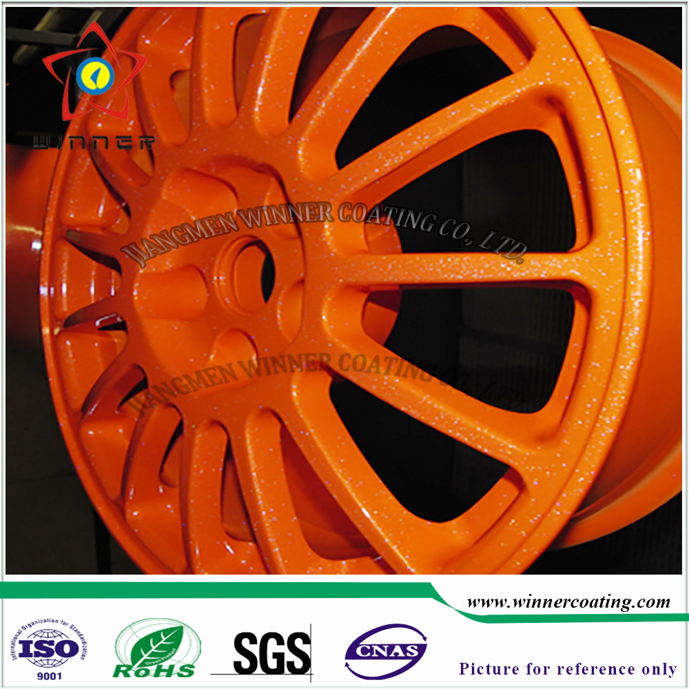 Outdoor Hub/Aluminium Wheel Use powder coating <strong>spray</strong> by automatic electrostatic powder coating machine/line