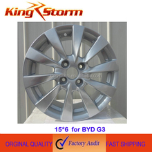 original aluminium alloy 15*6 wheel hub for BYD G3,electric car