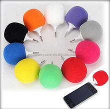 Mini Sponge Ball Speaker Balloon Mobile Audio Docks Cute Music ball mini speaker For iPhone for Samsung Android Phone