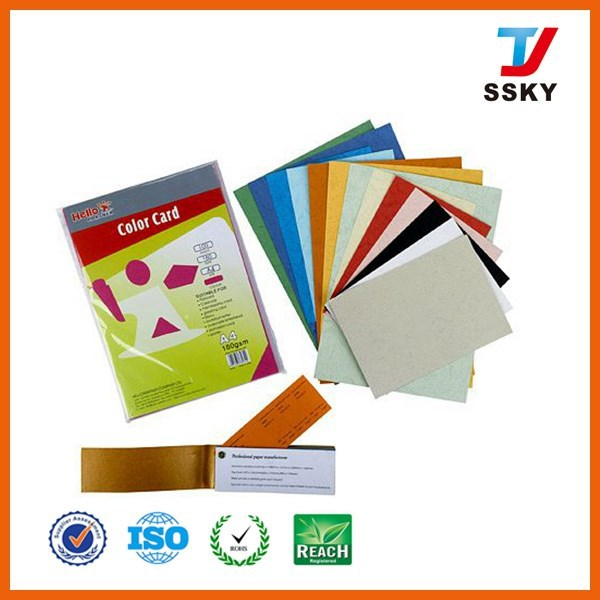 Colorful embossed card paper