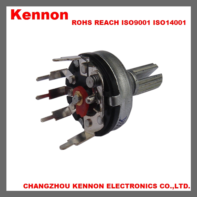 17MM b503 5 pin rotary potentiometer with switch vertical b100k 500k 10k changzhou good quality low cost alps alpha