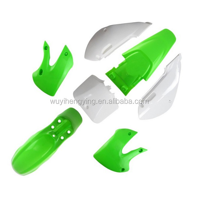 green KLX110 dirt bike plastic body kitfairing pit bike