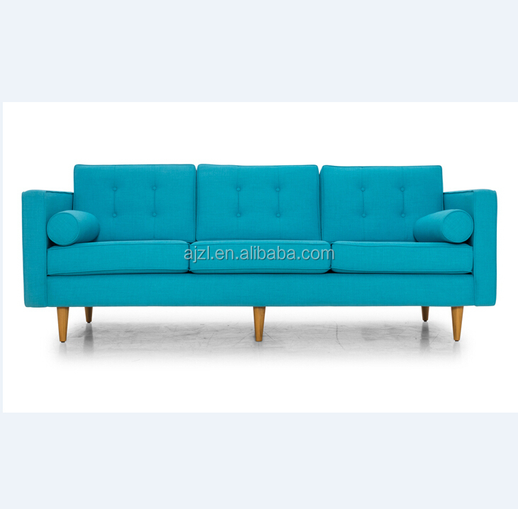Modern hot selling 3 seat living room furniture comfortable microfiber sectional fabric sofa