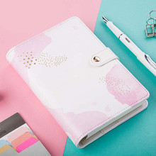 Kawaii Notebook Spiral Cute Leather Planner Agenda A6 Ring Binder Traveler Diary Notebooks School Planners Filofax