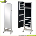 floor standing home decoration products full length mirror jewelry cabinet