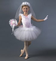 2016 Classical ballet tutu costume-girls white wedding dresses