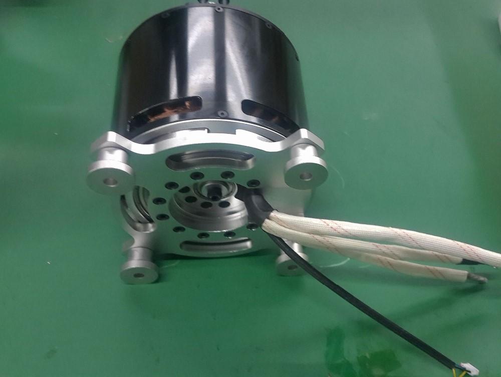 25kw watercooling sensored brushless motor for electric for 50 kg thrust brushless motor