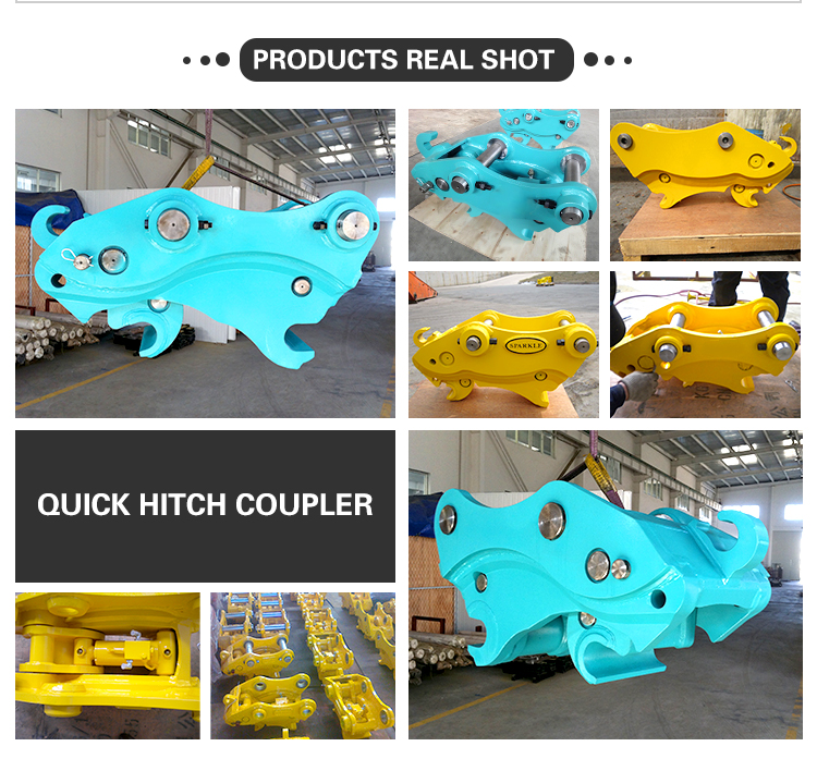 excavator Quick hitch coupler for 1.5-3 ton wheel loader