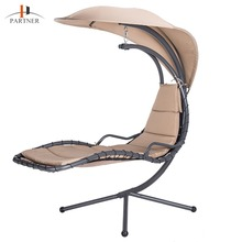 Patio Hammock Swing Outdoor Lounge Chair with Extend Canopy Umbrella & Stand Chaise Lounge Chair for Bedroom