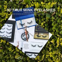 Packaging Designs 2018 New styles Synthetic Fiber Silk lashes 3D Faux Mink Eyelashes