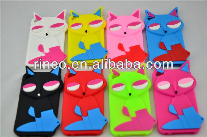 Lovely Fox Silicone Soft Phone Case Cover Skin For iPod Touch 4 4TH Gen