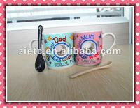 special design handle ceramic mug