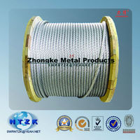 8X36S+FC 36mm galvanized or ungalvanized steel wire rope for Elevator