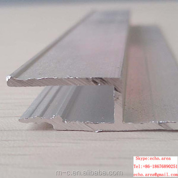 F Aluminum profile for stretch ceiling film