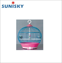 Round Small Hanging Wire Mesh Bird Cage With Perch For Parrot and Canary